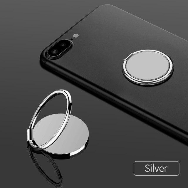 fonken official Silver ring holder Finger Ring For Phone Magnetic Holder Fold Smartphone Circle Stand Ultra