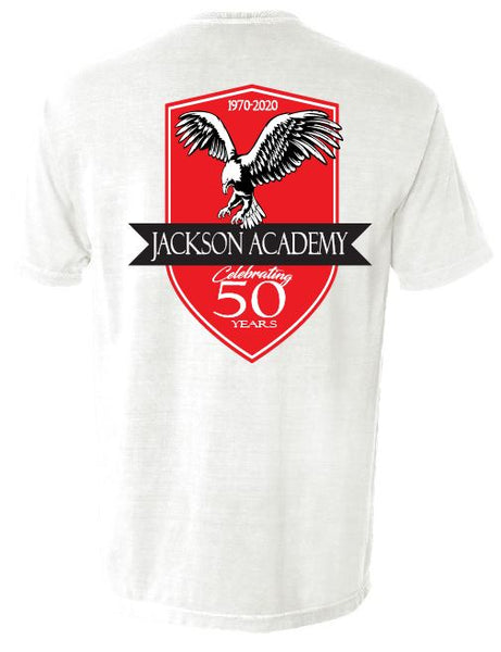 Red Crest 50th Logo Tee Gildan Brand