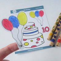 10th Birthday Cake Stickers