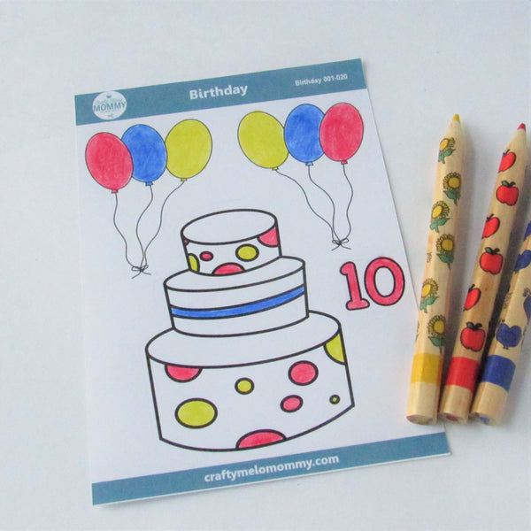 10th birthday party favor sticker sheet for kids