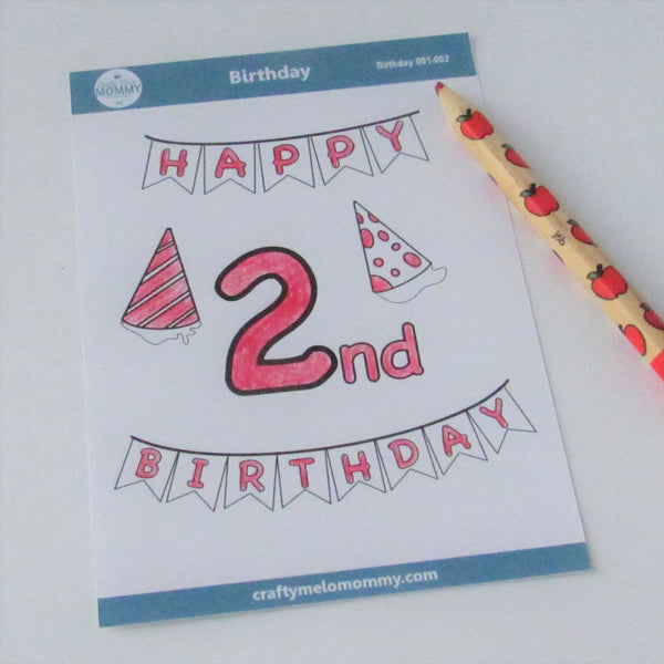 2nd Birthday Stickers