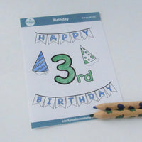 3rd Birthday Sticker Sheet