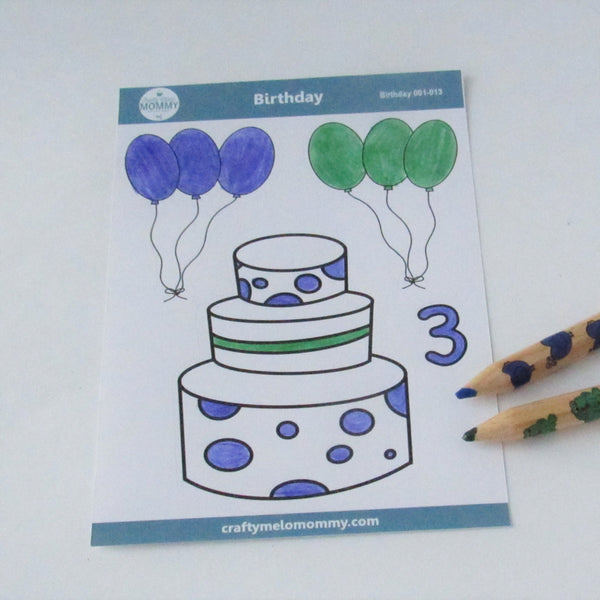 3rd Birthday Cake Stickers