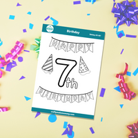 7th Birthday Stickers