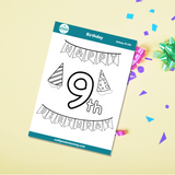 9th Birthday Stickers