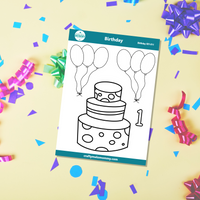 1st Birthday Cake Stickers