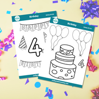 4th Birthday Sticker Bundle