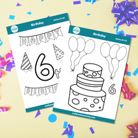 6th Birthday Sticker Bundle