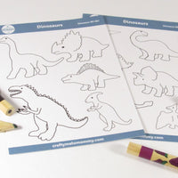 Fun dinosaur craft activity for kids to make