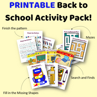 Printable Back to School Activity Workbook