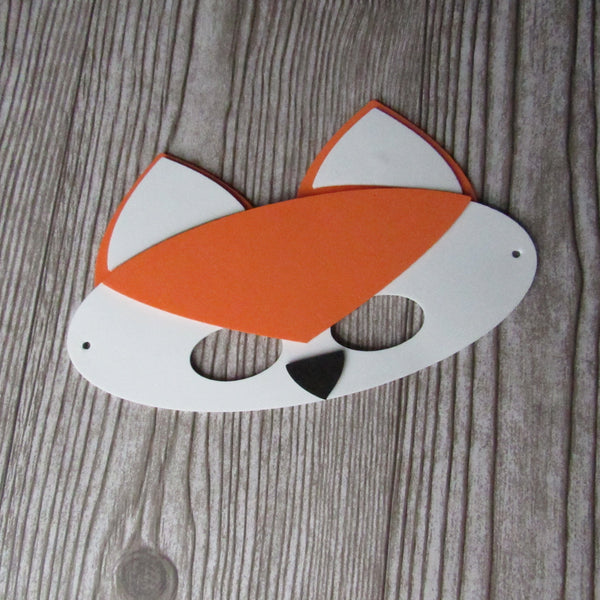 Woodland Fox animal mask for kids to make