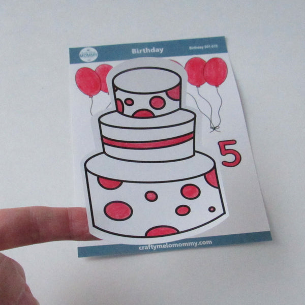 5th Birthday Cake Stickers