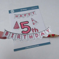 5th Birthday Sticker Bundle