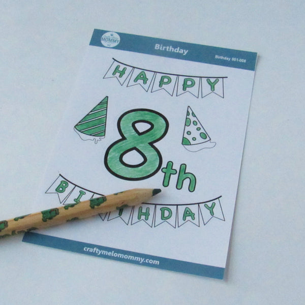 8th Birthday Stickers