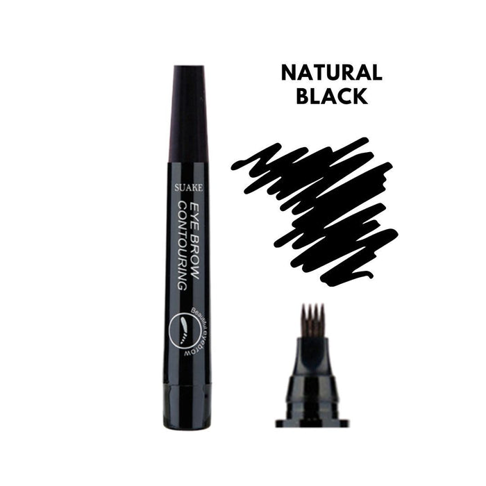 Waterproof Microblading Eyebrow Pen Natural Black - Augere Cosmetics