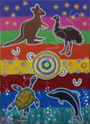 Bindigenous Bin Stickers - Cosmic Culture - Country to Coast (fits 240 litre bin)