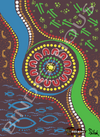 Bindigenous Bin Stickers - Sue's Artwork - All Lands (fits 240 litre bin)
