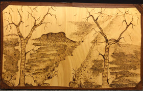 Wood Burning Dreaming of a Land Far Away