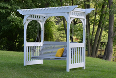 ARBOR VINYL SWING WITH GRAND ARCH