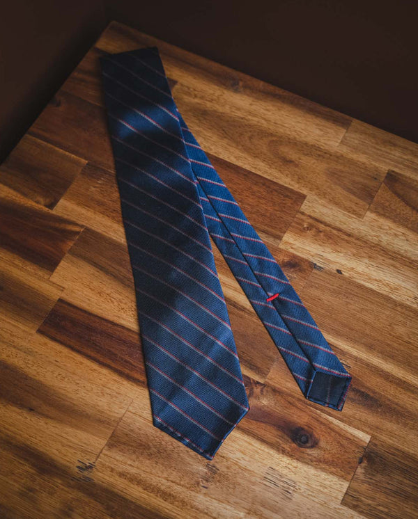 KJ Stripped Tie - Blue