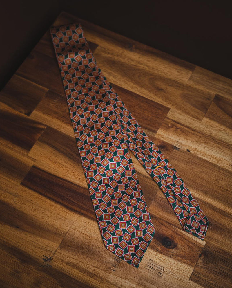 KJ Silk Madder Tie - Light Green