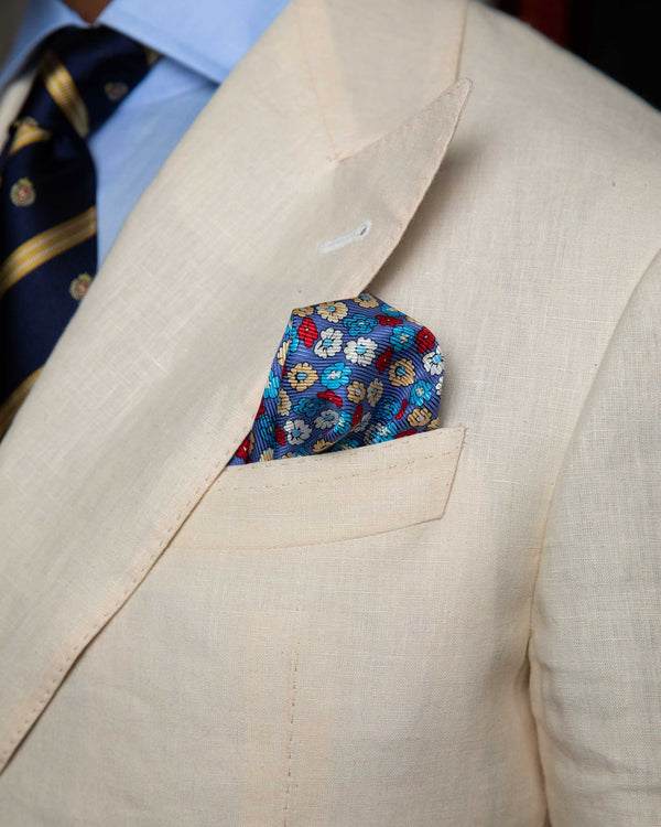 Silk Pocket Square -Floral