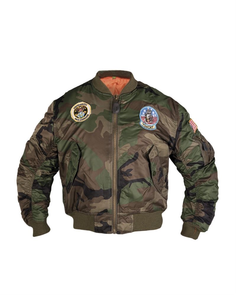 Woodland MA1® Kids Flight Jacket with Patches