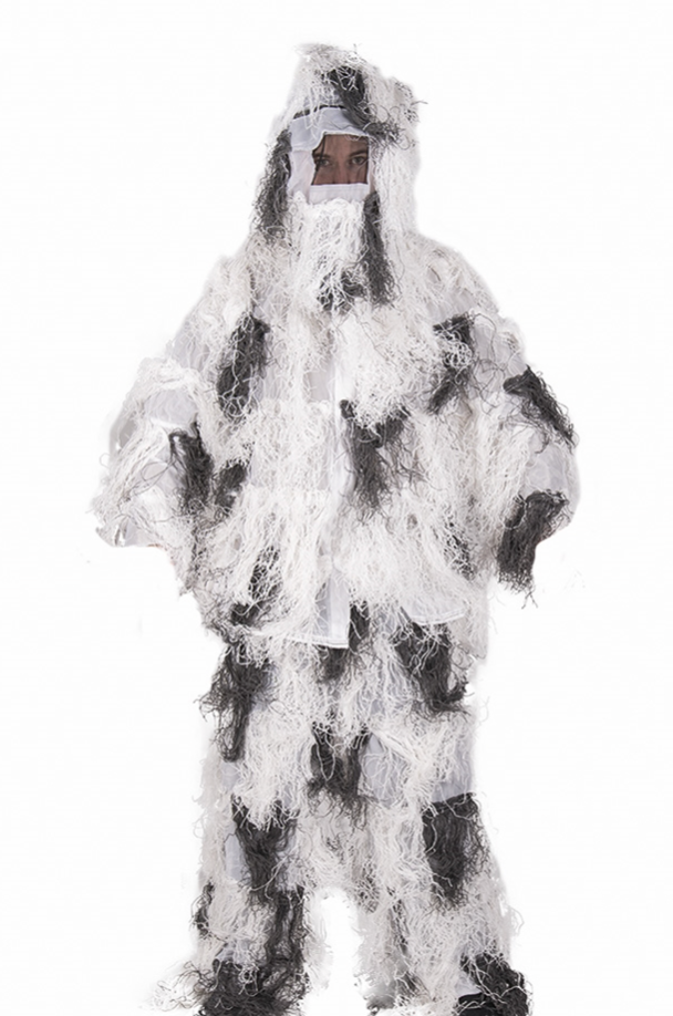 SNOW GHILLIE SUIT ′ANTI FIRE′ 4PC