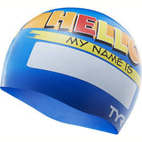 TYR Hello My Name Is Junior Swim Cap