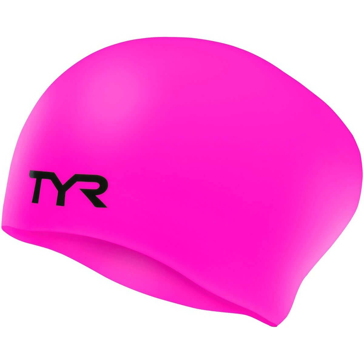 TYR Long Hair Wrinkle-Free Silicone Junior Swim Cap