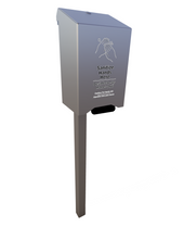 Load image into Gallery viewer, Manual Bottom Pump Outdoor Hand Sanitizer Dispenser w/o Receptacle, In-ground Mount (w/1000 ml sanitizer included)