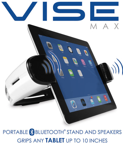 VISE-MAX Bluetooth Tablet Stand and Speaker with Microphone