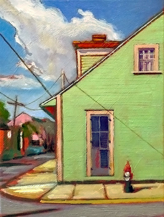 Around The Corner, oil on canvas - PaulFayard