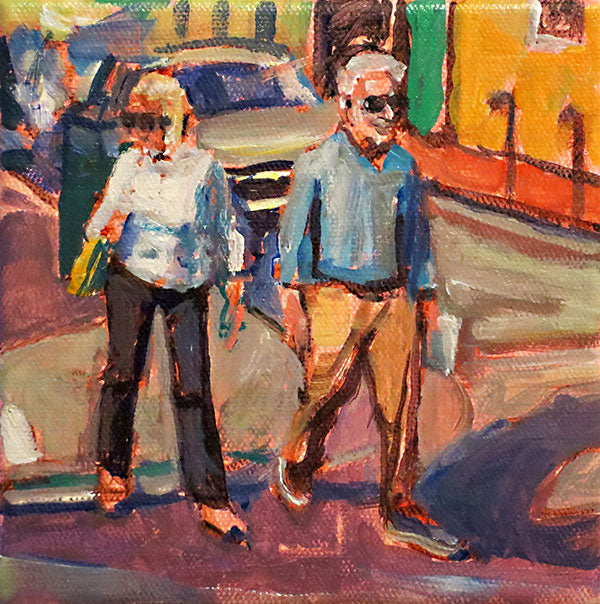 Crossing Orleans, oil on canvas - PaulFayard