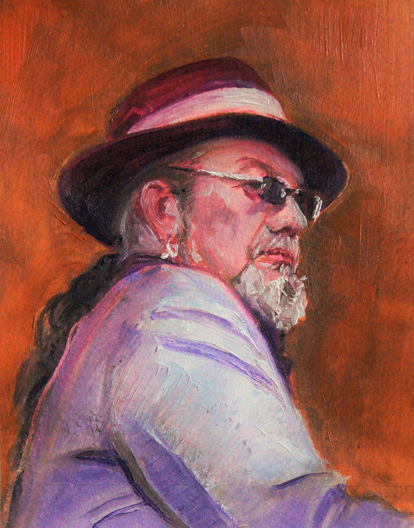 "Dr. John, oil on paper, 7.5"" x 6"" - PaulFayard"