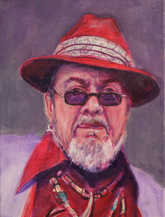 "Dr. John 2, Night Tripper, oil on canvas, 12"" x 9"" - PaulFayard"