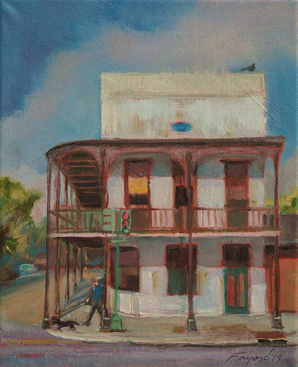 "Elysian Fields at Dauphine, New Orleans, oil on canvas, 10"" x 8"" - PaulFayard"