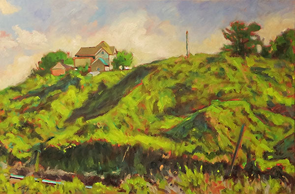 "House by the Railroad, oil on canvas, 24"" x 36"" - PaulFayard"