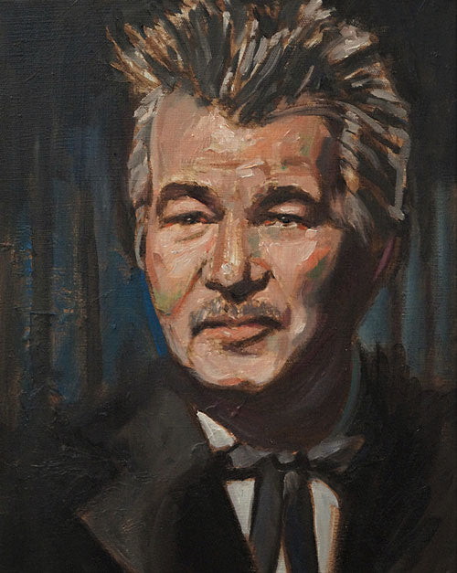 "John Prine, oil on canvas, 14"" x 11"" - PaulFayard"
