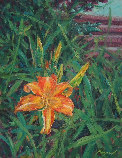 "Lily by a Stoop, oil on canvas, 14"" x 11"" - PaulFayard"