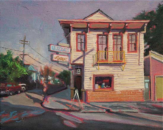 "Luizza's by the Track, New Orleans, oil on canvas, 8"" x 10"" - PaulFayard"
