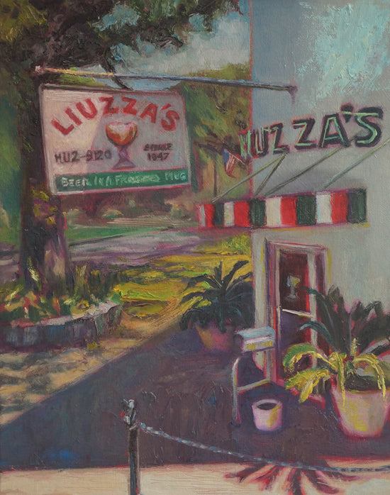 "Luizza's on Bienville, oil on canvas, 14"" x 11"" - PaulFayard"