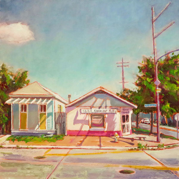 "Hansen's Sno-Bliz, New Orleans, oil on canvas, 20"" x 20"" - PaulFayard"