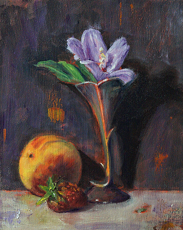 "Rose of Sharon, Rose of Wilma, oil on canvas, 10"" x 8"" - PaulFayard"
