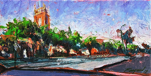 St. Charles at Tulane, oil on canvas - PaulFayard
