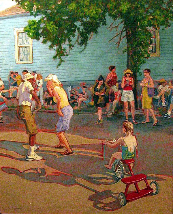 Street Party at Vaughan's, oil on canvas - PaulFayard