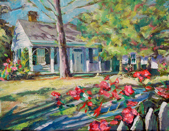 Oaks House Museum, oil on canvas - PaulFayard