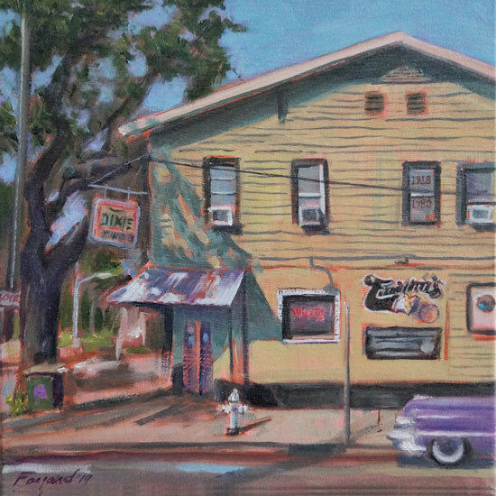 "Tipitina's, New Orleans, oil on canvas, 12"" x 12"" - PaulFayard"