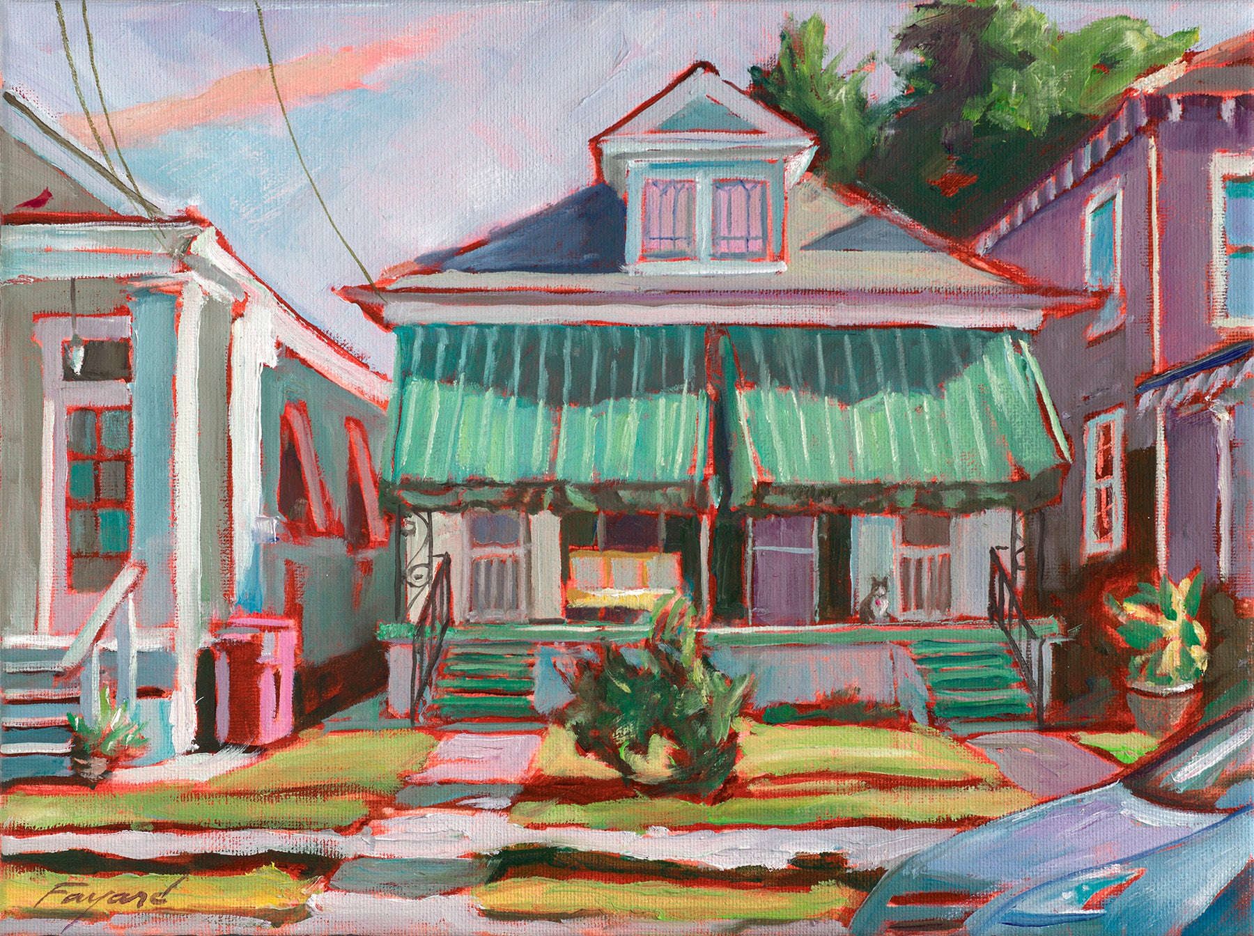 "Doubly Cool in MidCity, New Orleans, oil on canvas, 9"" x 12"" - PaulFayard"
