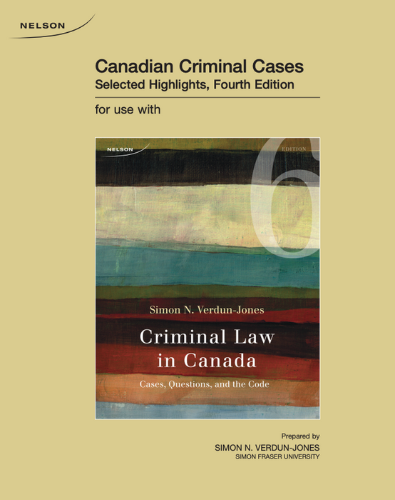 Custom Pub: Canadian Criminal Cases: Selected Highlights
